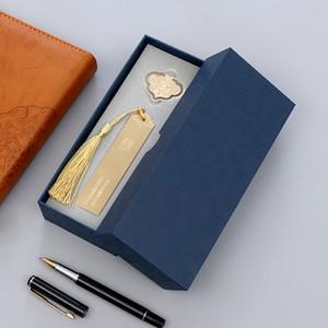 Regalo creativo Classic Segnalibro Logo Laser Logo in metallo Brass Glossy Bookmark Bookmark Confezione regalo
