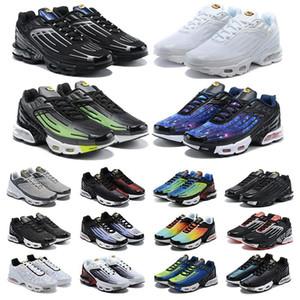 NOUVEAU TN PLUS 3 III transformé Stock Sports Sneakers X ULTRA SE LASER BLUE MENS MENS FEMMES Chaussures de course Tous Noirs Rugby White Baskets