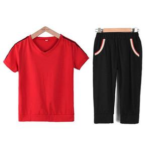 Yoga Outfits Trainingsanzüge Sommer Zwei 2 Stück Hose Set Frauen 2020 Plus Größe Kurze Top und Hosen Freizeit Sportswear Co-Ord Set