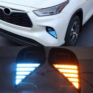 1set voiture LED phares LED LED Daylights Tournage Signal DRL Daytime exécutant Light Auto Funlamps pour Toyota Highlander 2020 2021