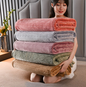 Thickened winter blanket flannel coral warm blanket bed sheet living room bedroom nap blankets 8 colors