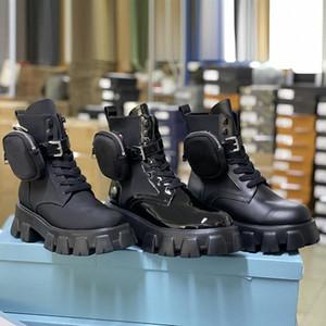 الرجال مصممو الرجال الأحذية الكاحل مارتن الأحذية والنايلون التمهيد العسكرية مستوحاة من الأحذية القتالية القتالية النايلون كوني المرفقة بالكاحل مع أكياس