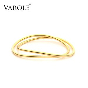Varole linha dupla manguito pulseiras pulseiras para mulheres acessórios moda jóias presente pulseras dropshipping