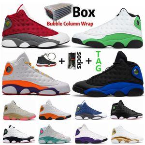 Oyun alanı Şanslı Yeşil Hiper Kraliyet 13s Jumpman 13 Erkek Basketbol Ayakkabı Bred 22 Playoff Kara Kedi Flint He Got Ev Spor Outdoor Ayakkabı