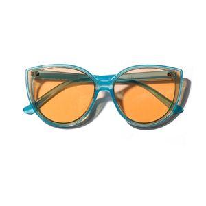 Female Quay Big Cat Yellow Top Frame Oversize Round Eye Uv400 Spectacles Women 2020 Shades SunGlasses Futuristic Luxury Bxvmq