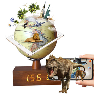 """AR globe 8"""" Archaized Yellow Bluetooth speakers LED Touch Light Novel Home decoration Holiday Gifts Kid's geography education Globe gift"""