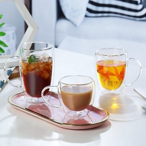 Винные очки двойное нижнее стекло креативность Whiske водка кружки чай кофейная чашка питьевой воды сок молока кружка для дома Q1222