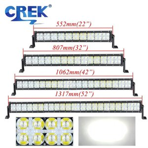 CREK 22 32 42 52 inch Straight Offroad LED Work Light Bar White Position Light 4x4 ATV LED Bar For 4WD 4x4 Off road SUV ATV