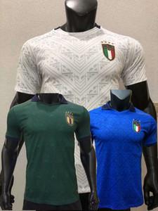 2020 2021 إيطاليا نسخة لاعب كرة القدم الفانيلة Insigne Belotti Jorginho Pellegrini Verratti Euro Home Away 3RD 20 21 Football Player Shirt