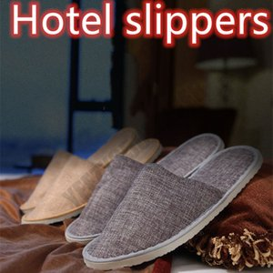 Disposable Slippers Thick soles flax Anti-slip Home Guest Thicken Travel Hotel White Soft Comfortable Delicate Disposable Slippers