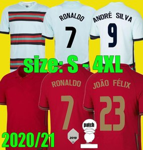 Boyut S - 4XL 2020 2021 Ronaldo Fernandes Joao Felix Futbol Jersey Nani 20 21 André Silva Pepe Danilo Quaresma Camisetas Futbol Gömlek
