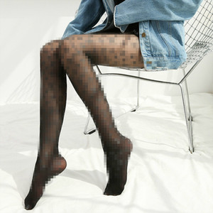 Bas rendre quelqu'un regard bas et plus mince style européen américain collants sexy de soie noire chaussettes mince sous-vêtements 609
