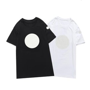 2021 New luxur embroidery tshirt fashion personalized Men and women Design T-shirts Female Tshirts high quality black and white100% cott