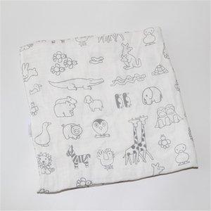 Bebê Swaddle Baby Muslin Cobertor Qualidade Melhor do que Aden Anais Bebê Multi-usa Algodão / Bambu Blanket Infantil Wrap 201124