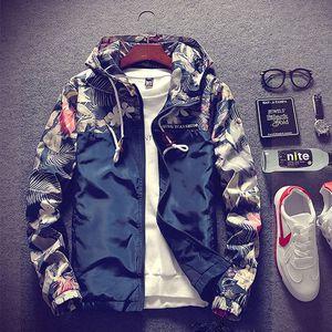 Jaqueta Masculina весна осень Bomber Military Jacket Men Casual с капюшоном Camo куртка мужская ветровка Y200930