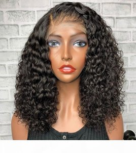 Body Body Curl Curly Full Lace Wigs 10a China Virgen Human Hair Celebrity WIG RECTOR AZUL Frontal Pelucas de encaje para mujer negra