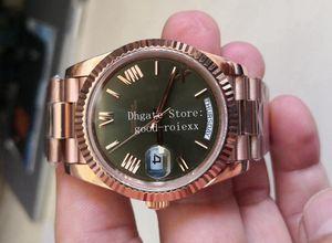 7 Color Relojes para hombre Verde Brown Champagne Hombres blancos Automático 2813 Movimiento BP Factory Watch Tiempo Día Día Fecha Rose Gold Crystal Wristwatches