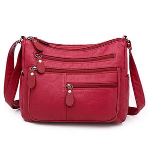 LONOOLISA Fashion Damen Schultertasche Multi-Tasche Designer Umhängetaschen für Frauen große Kapazitäts-Messenger Bag Bolso mujer