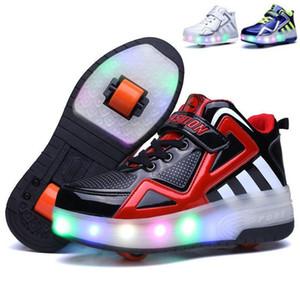 Атлетик открытый 2021 светящиеся кроссовки детские роликовые кататься на коньках обувь детей светодиодный красочный свет девушка мальчик с колесами