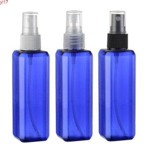 뜨거운 판매, 30pcs, 100ml 스퀘어 블루 향수 스프레이 병, 화장품 포장, 리필 병, 물 botterhigh qiantity