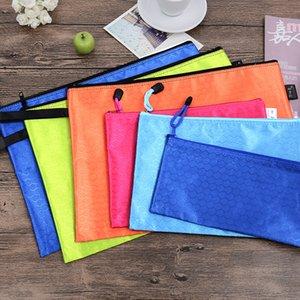 Student   A5 Stationery Cloth Handbag Bag File Envelope Bags Zipper B6 Oxford A4 Brifcase CustomLOGO Aiijr