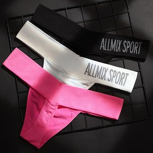Underwear Panties Brief Intimate Lingerie G-string Breathable String Lady Briefs Letter Thongs Women Sexy T-back Low-waist