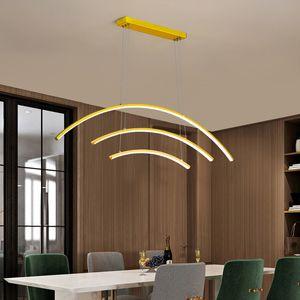 Led chandeliers Minimalist modern gold for living room Hotel restaurant office indoor lighting LED pendant lamp Illuminator