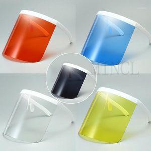 2021 Nouveaux lunettes surdimensionnées Visière exagérée Shanceld Bouclier grand miroir Verres de soleil à moitié visage Sunglasses de protection de bouclier FML1