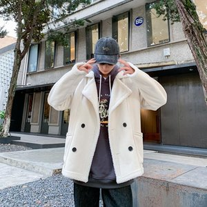 2019 uyuk inverno moda estilo pele curto integrado quente homem jovem cor puro cordeiro lã casaco homme masculino roupas1
