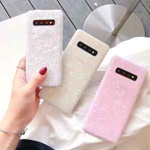 Glossy Conch Marble Fall für Samsung Galaxy S20 S10 S9 S8 S7-glänzende Shell-Abdeckung für Samsung-Anmerkung 10 Soft-Silikon-Hüllen