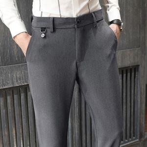 020 New Autumn Winter Design Men's Casual Pants Slim Pant Straight Trousers male Fashion Stretch Business Men Size 28-38