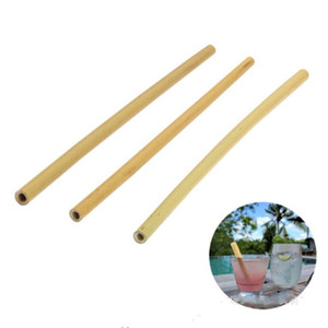 New bamboo straw 23cm reusable drinking straw eco-friendly beverages straws cleaner brush bar drinking straws tools party supplies 107 J2