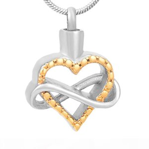 IJD9535 Newest Human Keepsake Stainless Steel Infinity Heart Cremation Necklace for Ashes Memorial Urn Pendant Jewelry