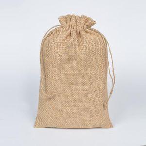 Presente Envoltório 20x30cm Rústica Jute Natural Burlap Saco De Cordão Para Feijões De Café Embalagem Embalagem Do Casamento Favor Sack 10pcs