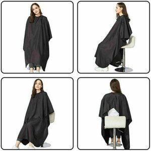 Fashion Salon Hairdressing Gown Cape Shave Apron Barber Professional Adult Hair Cutting Cloth Shampoo Waterproof Black Unisex H wmtnbk