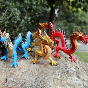 24cm Simulation Chinese Dragon Toy Figure Mascot Loong Action Figures PVC Figurines Kids Toys for Children