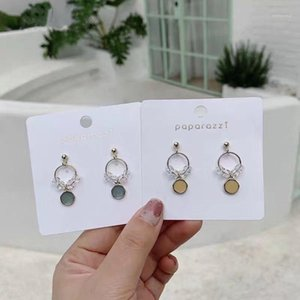 Dangle & Chandelier MENGJIQIAO Clearly Shiny Crystal Circle Drop Earrings For Women Girls Elegant Cute Oil Drip Round Pendientes Jewelry Gif