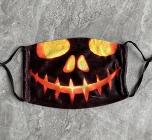 Hot Halloween Mask Reusable 3d Painting Pumpkin Grimace Cotton Face Mask Reusable Protective Carbon Filters Washable Adu bbyifC soif