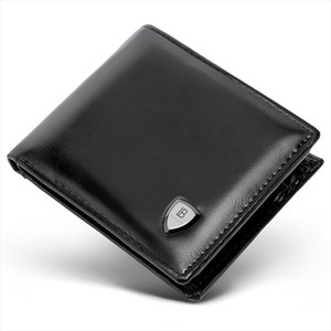 BOSTANTEN Mens PU Leather Tri fold Wallet Clasp and Zipper Coin Purse Wallet For Men With Gift Box