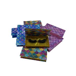 wholesale Magnetic false eyelash glitter scales packaging box lash boxes packaging 25mm mink eyelashes empty box