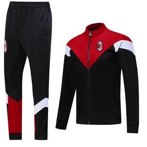 Soccer 2021 Full CALHANOGLU Football 2020 Set Tracksuit IBRAHIMOVIC Zipper PIATEK 20 21 Milan Jacket 2020 Tracksuit AC Adult Survetemen Ksxi