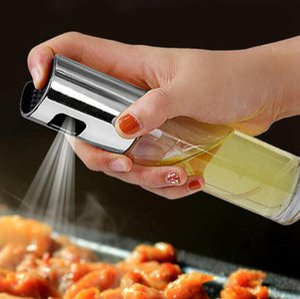 BBQ Cooking Glass Oil Sprayer Glass Oil Sprayer Olive Pump Stainless Steel Spray Oil Bottle Sprayer Can Jar Pot Kitchen Tool GGA3762-5