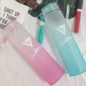 KPOP SEVENTEEN 17 Wasser Cup AI1 Gradient Glasflasche Frosted Getränk Wonwoo DK Glas Teetasse Wasser Kelche Glass Cup