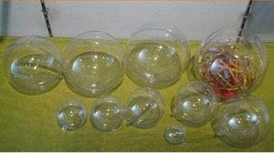 40pcs 4/5/6 см Романтический дизайн Новогодние украшения Болл Transparent можно открыть пластиковые Clear безделушка украшения подарков Present 3Shj #