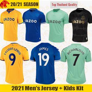 20 21 Everton Maglie da calcio CALVERT-LEWIN KEAN 2020 2021 SIGURDSSON RICHARLISON Maglie da calcio TOSUN BERNARD Maglia