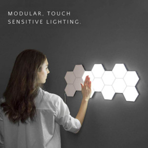 New Quantum Lamp Led Modular Touch Sensitive Lighting Hexagonal Lamps Night Lights Magnetic Creative Decoration for Bedroom Wall Lampara