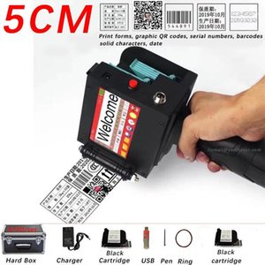 5CM QR Bar batch code variable date serial number logo expiry date label portable hand jet handheld thermal inkjet printer1