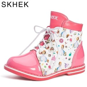 SKHEK meninas inverno botas moda sapatos infantis meninas botas crianças zíper britânico martin botas 27-32 tamanho 20113
