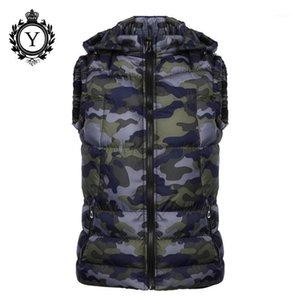 COUTUDI NEUE 2020 Winterjacken Weste Hoody Camouflage Gedruckt Down Baumwolljacke Mäntel Kurzarm Sleeveless Qualität Herren Warme Vests1