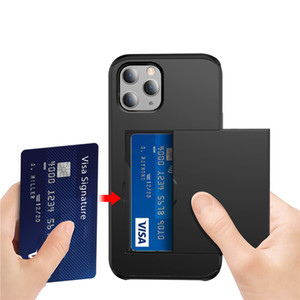 Business Phone Cases For iPhone 12 Mini 11 Pro Max Case Slide Armor Wallet Card Slots Holder Cover for iPhone X XR 7 8 Plus SE2020 XS MAX